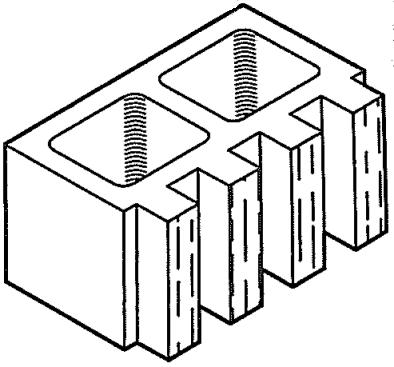 "Block 8"", Fluted Rake Face, Standard [Drawing]"
