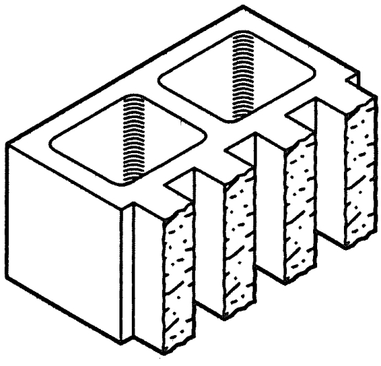 "Block 8"", Fluted Split Face, Standard [Drawing]"